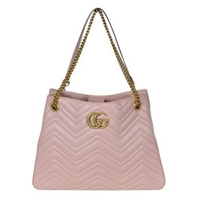 8ca5aa291984 Gucci Bags | 453569 Pink Chevron Leather Marmont Purse | Poshmark